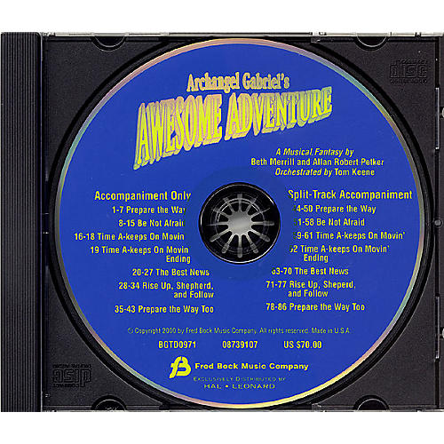 Fred Bock Music Archangel Gabriel's Awesome Adventure (Sacred Musical) CD ACCOMP composed by Allan Petker