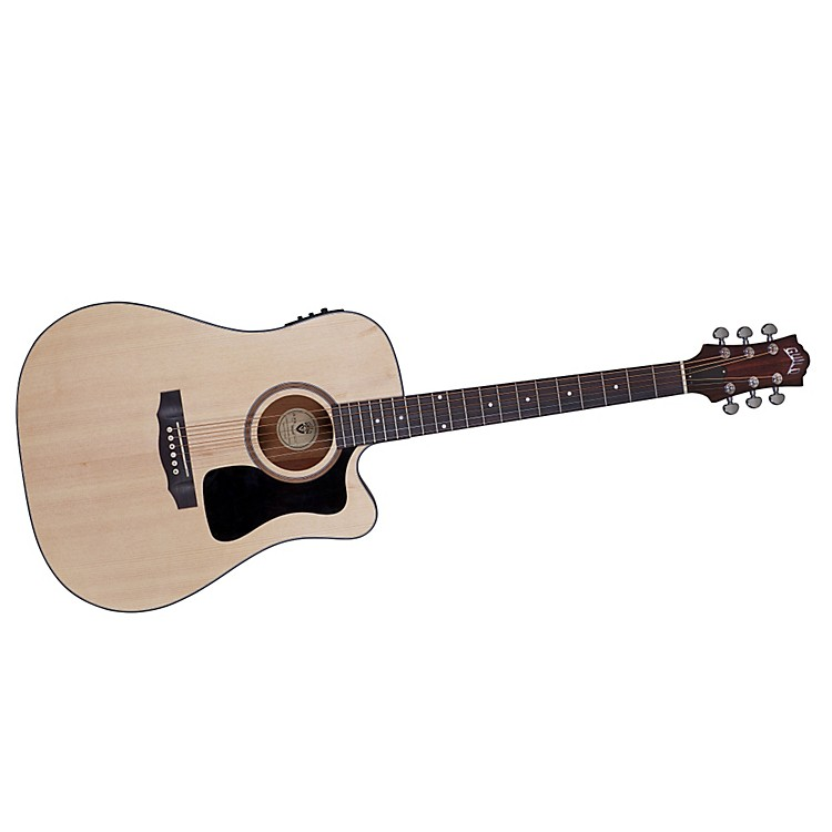 Guild Arcos Series AD-3CE Mahogany Dreadnought Acoustic-Electric Cutaway Guitar Natural