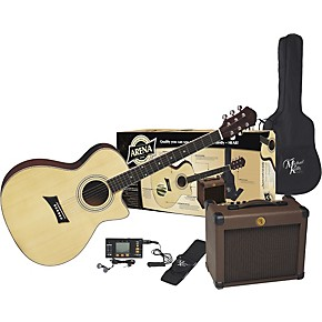 michael kelly arena pack acoustic electric guitar and amp musician 39 s friend. Black Bedroom Furniture Sets. Home Design Ideas