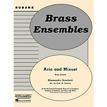 Rubank Publications Aria and Minuet (Brass Quintet - Grade 3) Rubank Solo/Ensemble Sheet Series