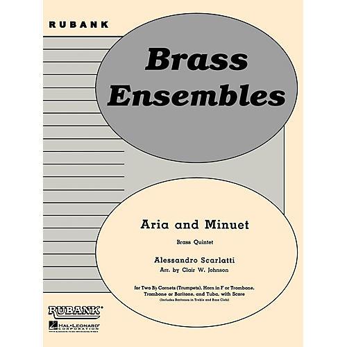 Rubank Publications Aria and Minuet (Brass Quintet - Grade 3) Rubank Solo/Ensemble Sheet Series-thumbnail