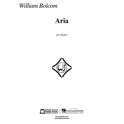 Edward B. Marks Music Company Aria (for Guitar) E.B. Marks Series Softcover Composed by William Bolcom