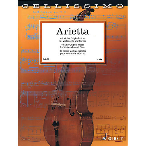 Schott Arietta - 40 Easy Original Pieces for Cello and Piano String Series Softcover-thumbnail