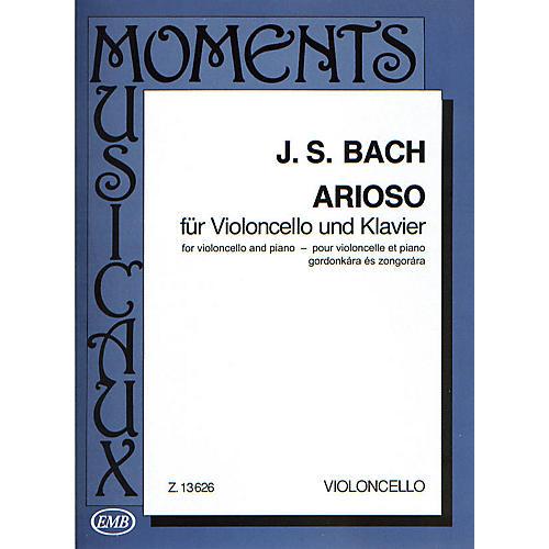 Editio Musica Budapest Arioso (Cello and Piano) EMB Series Composed by Johan Sebastian Bach