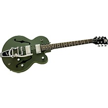 Normandy Army Green Powdercoat Archtop Guitar with Bigsby Vibrato Tailpiece