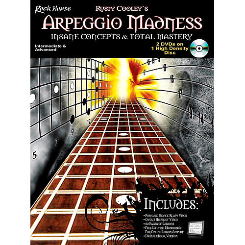 Rock House Arpeggio Madness - Insane Concepts & Total Mastery Book/DVD-thumbnail