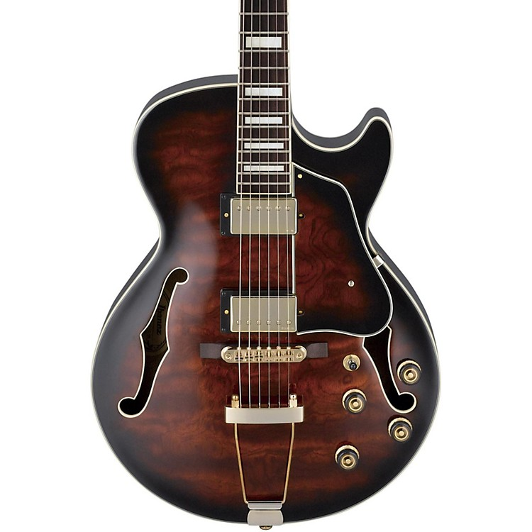 Ibanez Artcore Expressionist AG95 Hollowbody Electric Guitar Dark Brown Sunburst