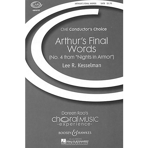 Boosey and Hawkes Arthur's Final Words (No. 4 from Nights in Armor) SATB a cappella composed by Lee Kesselman-thumbnail