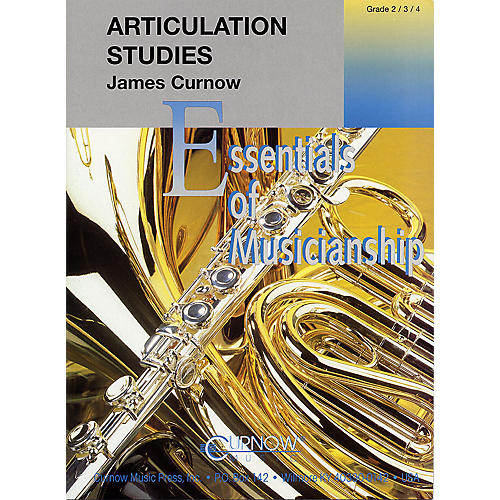 Curnow Music Articulation Studies (Grade 2 to 4 - Score Only) Concert Band Level 2-4 Composed by James Curnow-thumbnail