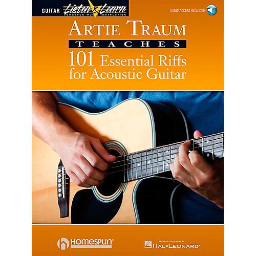 Homespun Artie Traum Teaches 101 Essential Riffs for Acoustic Guitar (Book/CD)