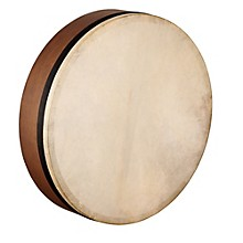 Meinl Artisan Edition Mizhar Goatskin Head Walnut Brown 18 x 4 in.