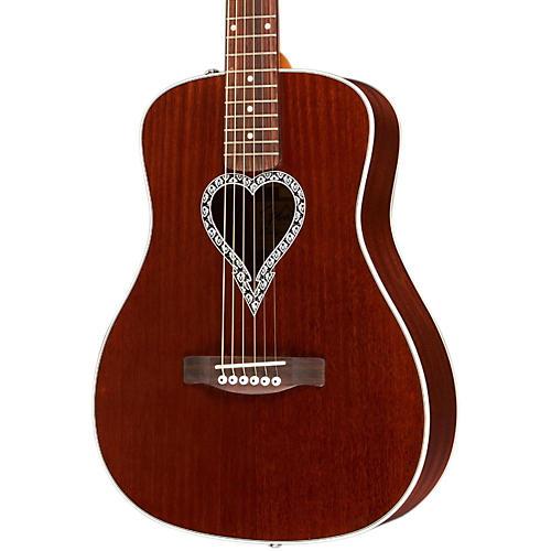 Fender Artist Design Series Alkaline Trio Malibu Mahogany Dreadnought Acoustic Guitar-thumbnail