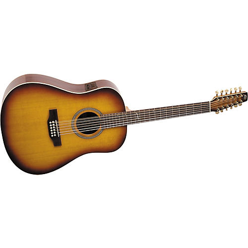 Seagull Artist Series 12-String Studio Dreadnought i-Beam Acoustic-Electric Guitar with Deluxe Case-thumbnail