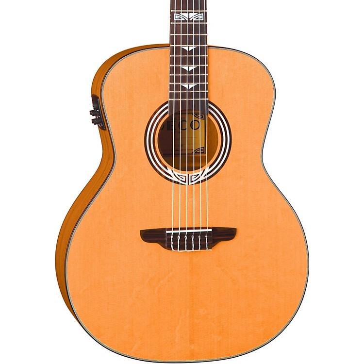 Luna GuitarsArtist Series Deco All Solid Wood Grand Auditorium Acoustic-Electric Nylon Guitar