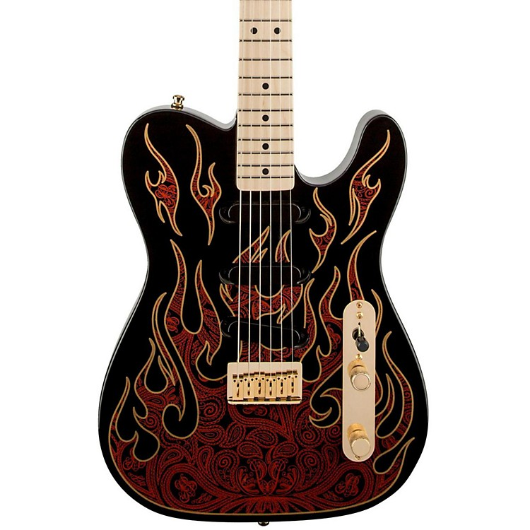 Fender Artist Series James Burton Telecaster Electric Guitar Blue Paisley Flames