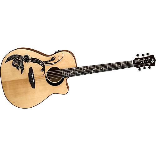 Luna Guitars Artist Series Phoenix Folk Cutaway Acoustic-Electric Guitar-thumbnail