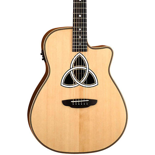Luna Guitars Artist Series Trinity Folk Cutaway Acoustic-Electric Guitar