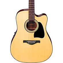 Open Box Ibanez Artwood Series AW50ECE Solid Top Dreadnought Acoustic-Electric Guitar