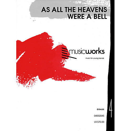 Hal Leonard As All the Heavens Were a Bell (with Optional Chorus) Concert Band Level 4 Composed by Jay Bocook-thumbnail