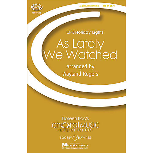 Boosey and Hawkes As Lately We Watched (CME Holiday Lights) TTB arranged by Wayland Rogers-thumbnail