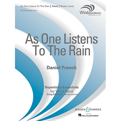 Boosey and Hawkes As One Listens to the Rain (Score Only) Concert Band Level 4 Composed by Daniel French