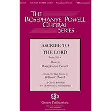 Gentry Publications Ascribe to the Lord SATB Arranged by William Powell
