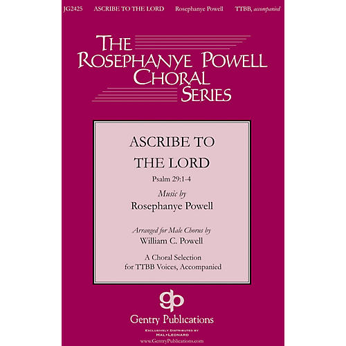 Gentry Publications Ascribe to the Lord TTBB arranged by William Powell-thumbnail