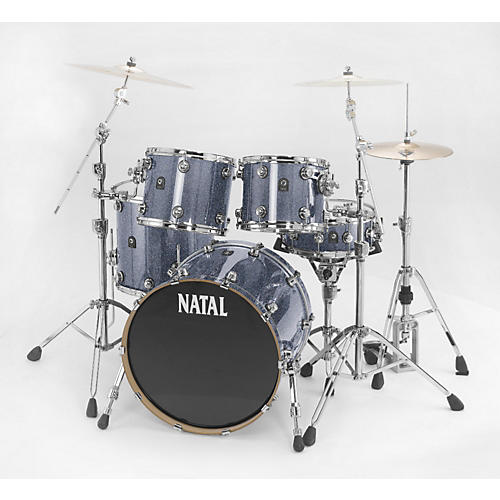 Natal Drums Ash Rock 5-Piece Shell Pack Gray Sparkle