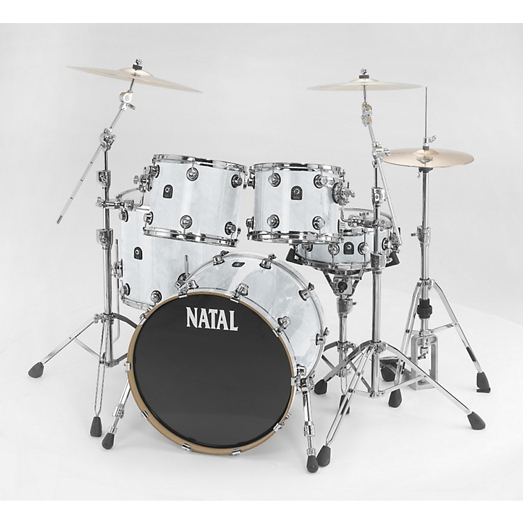 Natal Drums Ash Rock 5-Piece Shell Pack White Swirl