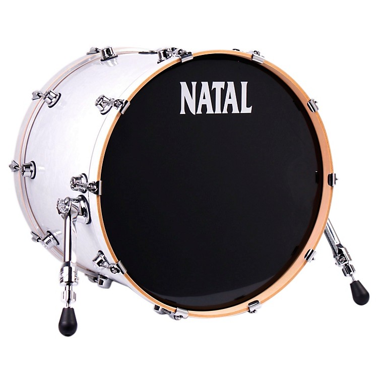 Natal DrumsAsh Series Bass DrumWhite Swirl22x18