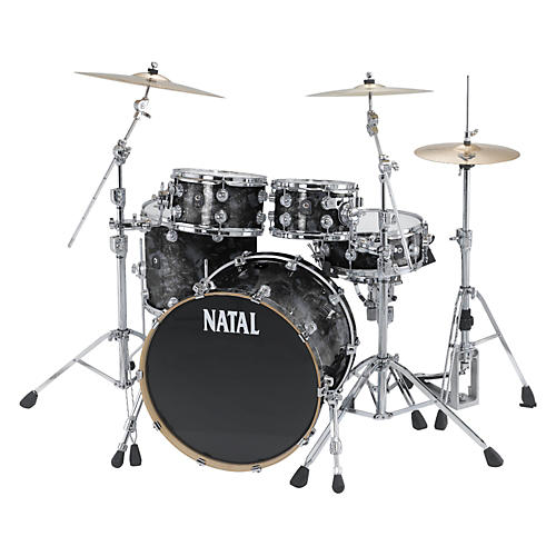 Natal Drums Ash US Fusion X 5-Piece Shell Pack Black Swirl