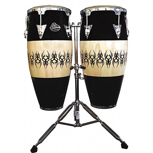 LP Aspire Accent Wood Conga Set with Scarab Finish and Stand