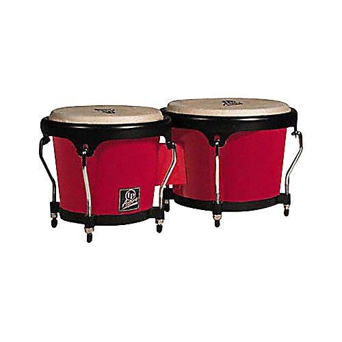 LP Aspire Fiberglass Bongos Red