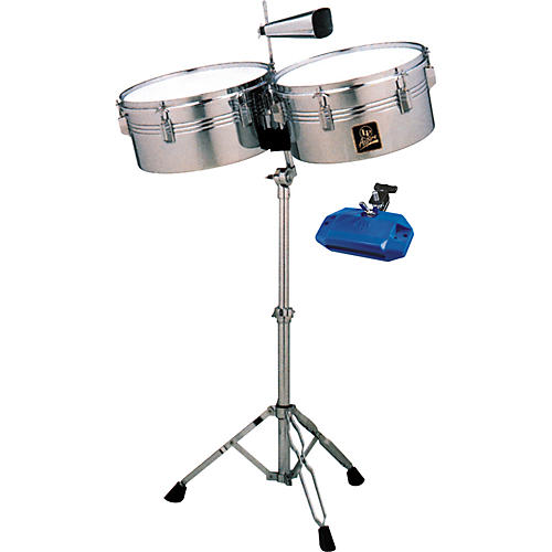 LP Aspire Timbale Set with High Pitch Jam Block