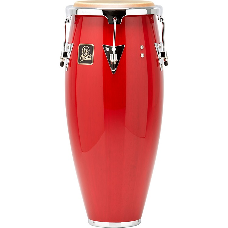LP Aspire Wood Conga Chrome Hardware 10 inch Quinto Red Wood