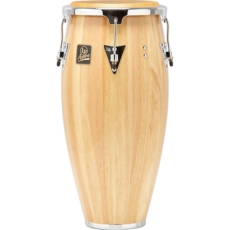 LP Aspire Wood Conga Chrome Hardware 11 inch Natural Wood
