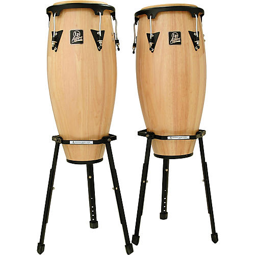 LP Aspire Wood Conga Set W/2 Basket Stands