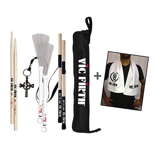 Vic Firth Assorted Stick Pack with Free Vic Firth Drum Towel