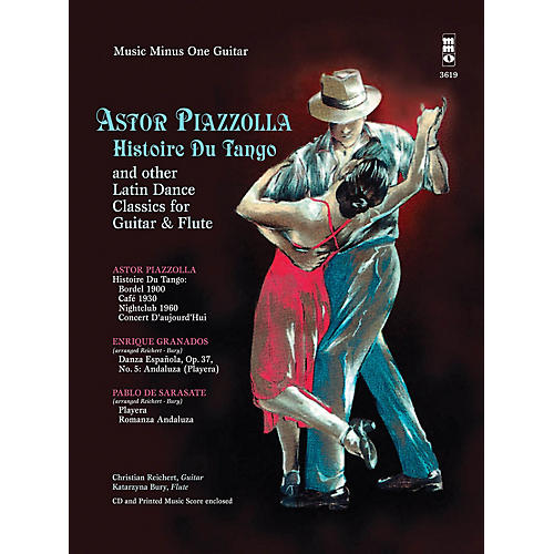 Music Minus One Astor Piazzolla - Histoire Du Tango and Other Latin Classics for Gtr & Fl Music Minus One BK/Audio Online-thumbnail