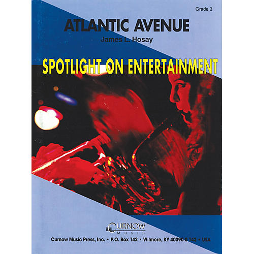 Hal Leonard Atlantic Avenue (Grade 3 - Score Only) Concert Band Level 3 Composed by James L. Hosay-thumbnail