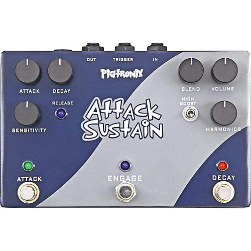 Pigtronix Attack Sustain Guitar Effects Pedal-thumbnail