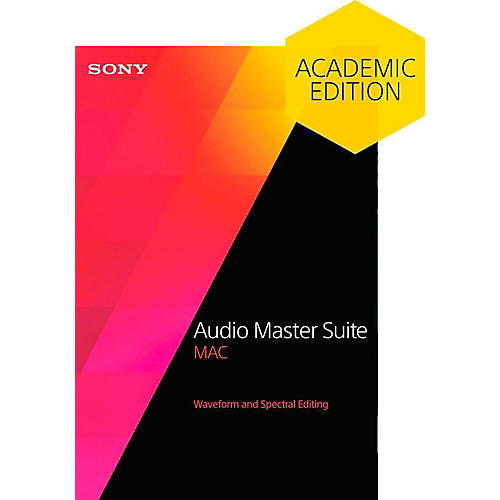 Sony Audio Master Suite 2 - Academic Software Download
