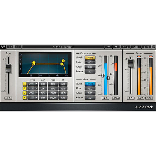 Waves AudioTrack Native Software Plug-In Software Download