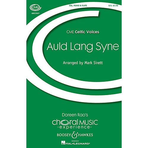 Boosey and Hawkes Auld Lang Syne (CME Celtic Voices) SSA arranged by Mark Sirett-thumbnail