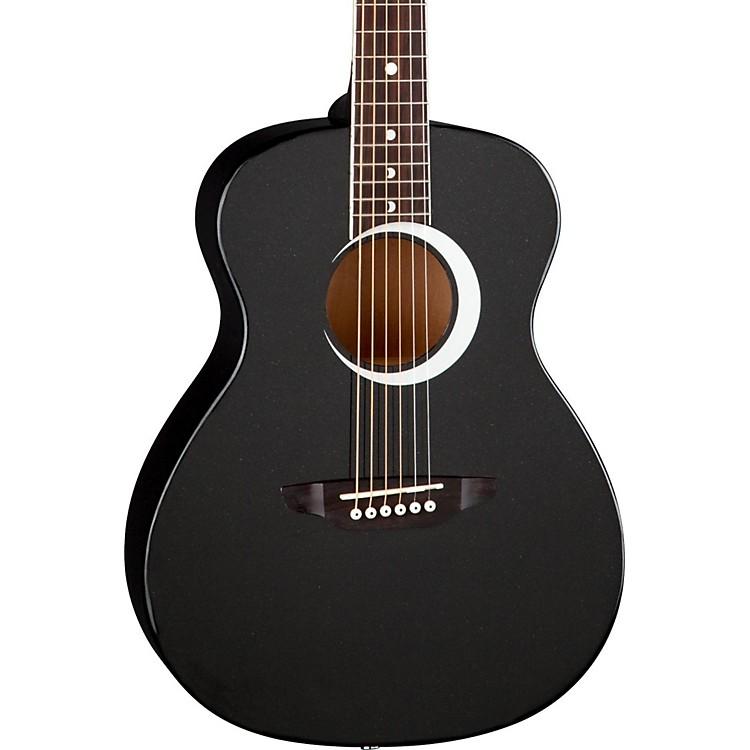 Luna GuitarsAurora Borealis 3/4 Size Acoustic GuitarBlack Sparkle