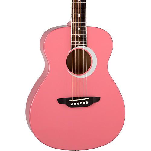 Luna Guitars Aurora Borealis 3/4 Size Acoustic Guitar Pink Sparkle