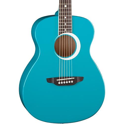 Luna Guitars Aurora Borealis 3/4 Size Acoustic Guitar Teal Sparkle