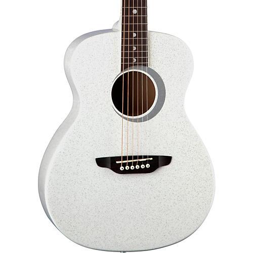 Luna Guitars Aurora Borealis 3/4 Size Acoustic Guitar White Sparkle