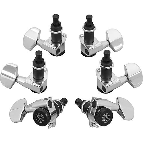 D'Addario Planet Waves Auto-Trim Tuning Machines/3 Per Side Chrome