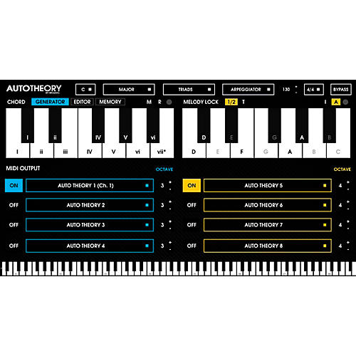 Mozaic Beats AutoTheory Automatic Chord Mapping Plug-in Software Download-thumbnail